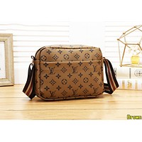 Louis Vuitton LV Fashion Women Shopping Leather Satchel Shoulder Bag Crossbody Brown