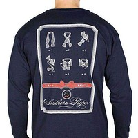 Beau Basics Long Sleeve Tee Shirt in Navy by Southern Proper