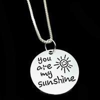 You Are My Sunshine Alloy Necklace