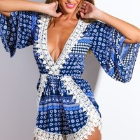 Never Let You Down Playsuit Blue