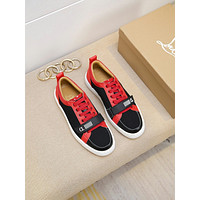 Christian* Louboutin  *   C*LMen Fashion Boots fashionable Casual leather Breathable Sneakers Running Shoes