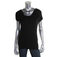 INC Womens Ribbed Knit Contrast Trim Casual Top