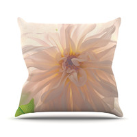 "Robin Dickinson ""Buy Her Flowers"" Outdoor Throw Pillow, 16"" x 16"" - Outlet Item"