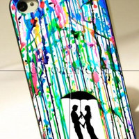 Love Song Romantic in The Rain Paint iPhone Case And Samsung Galaxy Case