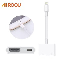 AHHROOU 1080P HDMI Cable For Lightning To AV HDMI / HDTV TV Digital Cable Adapter For iPhone X 8 For iPhone 7 Plus For iPad Mini