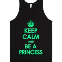 Keep Calm And Be A Princess (Mint with a white Underbase)-Tank