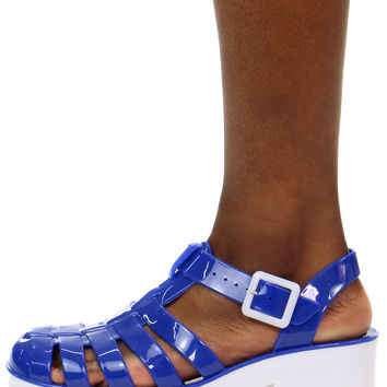 DON'T BE BLUE JELLY SANDAL