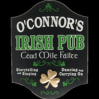 Personalized Cead Mile Failte Wood Sign