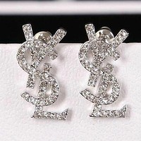 YSL Yves Saint Laurent Trendy Earrings Letter Earrings