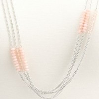 Faceted Stone Layered Necklace: Charlotte Russe
