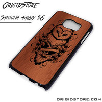 Owl Wood Case For Samsung Galaxy S6 Case