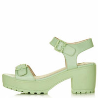 NATION Two Part Chunky Sandals - Mint