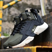 Best Online Sale Nike Air Huarache X Acronym City Customise MID Leather Sport Shoes Army Green White