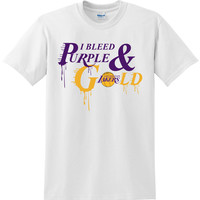"""Lakers """"Bleed Purple and Gold"""" Shirt - White"""