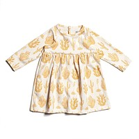 Cactus Print Baby Dress by Winter Water Factory