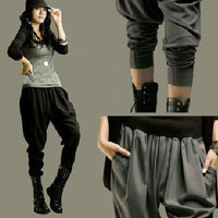 Spring and Summer Hip Hop dance Harem pants Women 2014 Loose plus size Female trousers Casual
