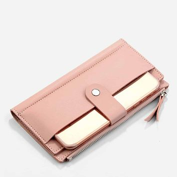 Magnetic Button Fold Over Wallet