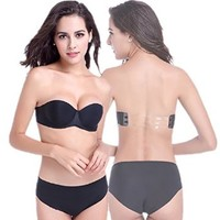Buy Home Women's Backless Strapless Invisible Push-Up Wedding Bra Breast Pad