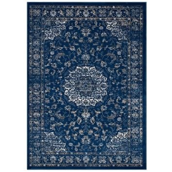 Lilja Distressed Vintage Persian Medallion 8x10 Area Rug