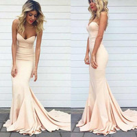 Floor Length Sweetheart Simple Prom Dresses Evening Dresses