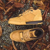 "Nike Air Trainer 1 Mid Premium NSW ""Flax"" Retro Basketball Shoes 607081-201"