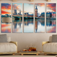Palace of Westminster Wall Art Gift / London Fine Art Photography Photo on Canvas Wall Décor Gift for Home / Interior Design Wall Art Décor