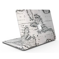 The Vintage Black and White Gulf of Mexico Map - MacBook Air Skin Kit
