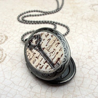 Vintage Key Locket Necklace