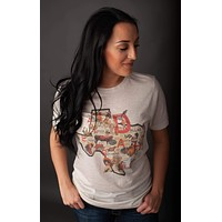 GINA Texas Map Tee