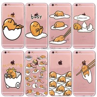 Smmnas Lovely Gudetama Egg phone Case For iphone 5s 6S Plus High Quality Transparent soft silicone For iphone7 8 plus Case Cover