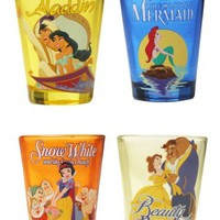 Disney Princess Faces 4 Shot Glass Set