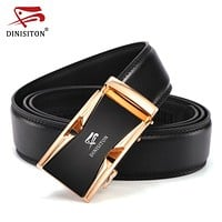 Men's Fashion Genuine Leather Belts For Men Automatic Buckle Strap High Quality Strap Male Jeans
