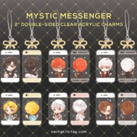 """Mystic Messenger 2"""" Double-Sided Clear Acrylic Charms by haiyun"""