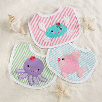 "Baby Aspen ""Beach Buddies"" 3-Piece Bib Gift Set (Girl)"