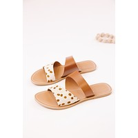 Coastal Sandal, Brown Spot | Beach by Matisse