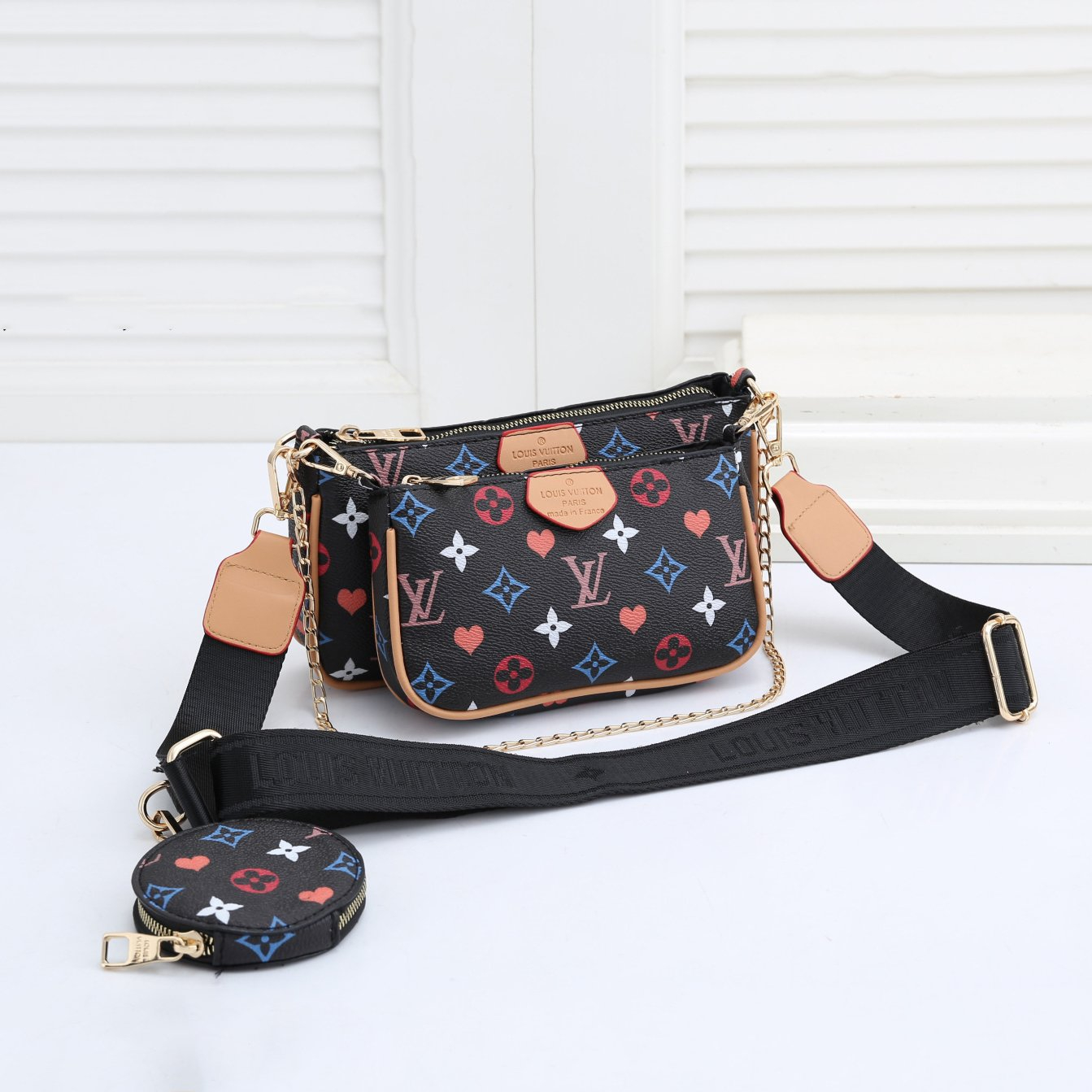 Image of Louis Vuitton LV new presbyopic two-piece popular one-shoulder messenger bag