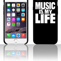 Music is my life 5 5s 6 6plus phone cases