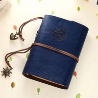 Vintage Notebook paper A6 80 sheets Waterproof Leather Diary