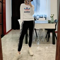 """Adidas"" Women Multicolour Starry Sky All-match Gradually Varied Fashion Letter Logo Long Sleeve Sweater Tops"