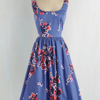 Vintage Inspired Long Sleeveless Fit & Flare Wonder for the Record Books Dress
