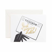 Hello! Telegram Greeting Card by RIFLE PAPER Co. | Made in USA