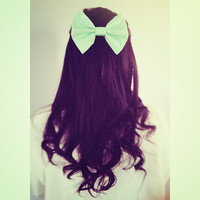 Pastel Fabric Hair Bow by Dimeycakes on Etsy