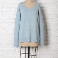 Sky Blue Knit Sweater-FINAL SALE