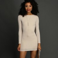 Sale-ivory Glitter Cowl Back Dress