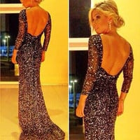 New Sexy Women Long Formal Prom Dress Cocktail Party Ball Gown Evening Dress