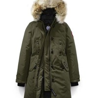 CANADA GOOSE winter women kensington parka jacket/ArmyGreen