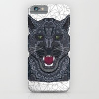 Modern Black Panther iPhone & iPod Case by ArtLovePassion