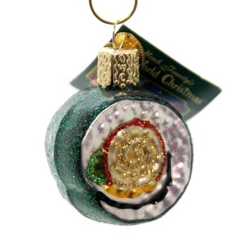 Old World Christmas SUSHI ROLL Glass Ornament Fish 32110