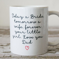 Fathers Hold Our Hearts Mug | Fathers Of The Bride | Gift For Dad | Fathers Day Mug | Fathers of the Bride Gift Ideas | Wedding Gift for Dad