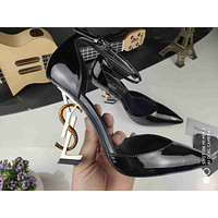 ysl women casual shoes boots fashionable casual leather women heels sandal shoes 46